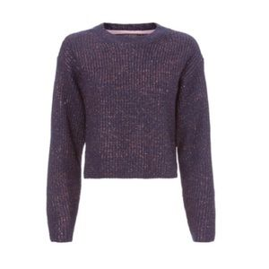 Rag & Bone Jubilee Metallic Thread Cropped Sweater